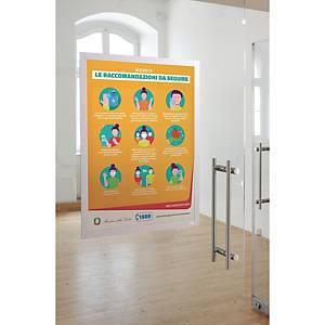 Cornice adesiva con pannello magnetico duraframe poster Durable 50x70cm argento