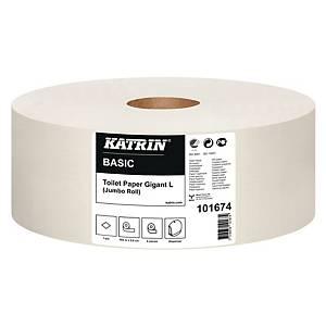 Toiletpapir Katrin 101674 Basic Gigant, pakke a 6 ruller