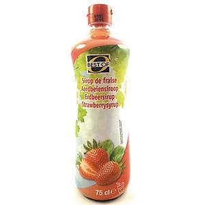 Sirop de fraises Best Of, 0,75 l, le paquet de 6 bouteilles