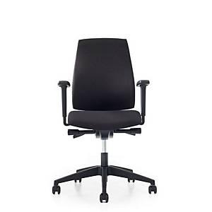 Prosedia Se7en Basic bureaustoel met wielen zachte ondergrond, stof, zwart