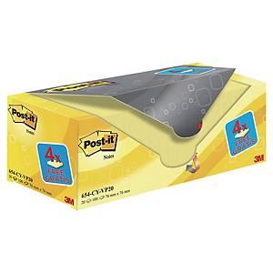 Pack de 20 blocks de 100 notas adhesivas Post-it - amarillo - 76x76mm