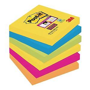 Karteczki Post-it® Super Sticky, Rio de Janeiro, 76x76mm, 6x90 sztuk