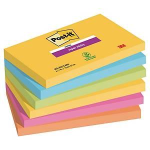 Post-it Super Sticky Notes Rio, 76 x 127 mm, pakke a 6 blokke