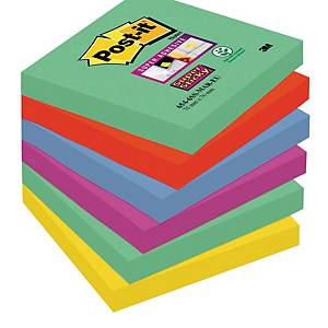 Post-It Super Sticky Notes 76X76mm Marrakesh Colour Pk6