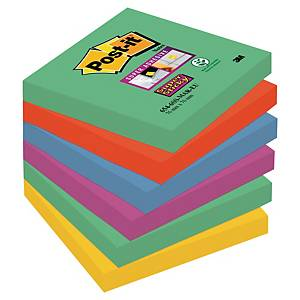 Notisblock Post-it Sticky Notes, Marrakesh, 76 x 76 mm, förp. med 6 block