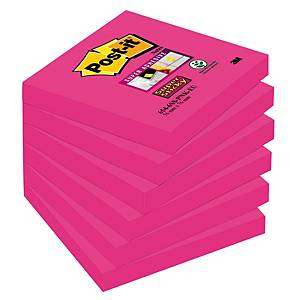 Post-It Super Sticky viestilappu 76x76mm fuksia, 1 kpl=6 nidettä