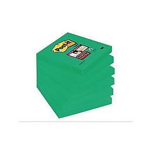 Post-It Super Sticky viestilappu 76x76mm parsanvihreä, 1 kpl=6 nidettä