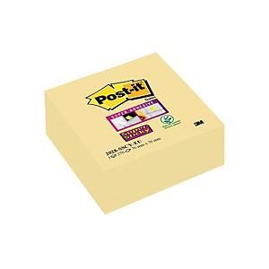 Karteczki Post-it® Super Sticky Kostka, Żółte, 76x76mm, 270 sztuk