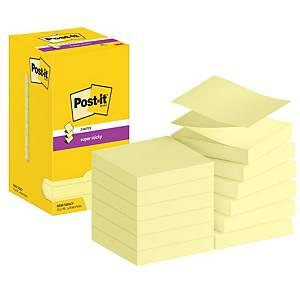 Post-it® Super Sticky Z-Notes S330-Y, jaune canari, 76 x 76 mm, les 12
