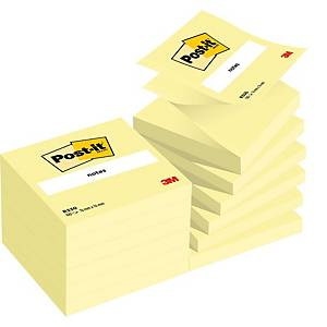 Pack 12 blocos 90 notas adesivas Z Post-it Super Sticky - amarelo