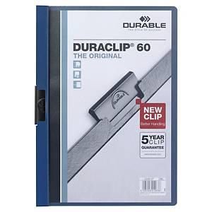 Chemise à pince Duraclip, A4, hauteur de remplissage 6 mm, bleu foncé