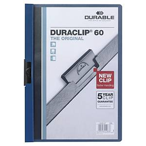 Durable Duraclip A4 Folder 6mm Dark Blue - 60 Sheets Capacity