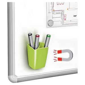 Cep írószertartó, mágneses, zöld
