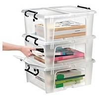 Aufbewahrungsbox Strata, Volumen: 20l, Maße: 460 x 370 x 190mm, transparent