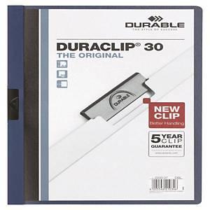DURACLIP 2200 FOLDER PVC 30P 3MM D/BLU