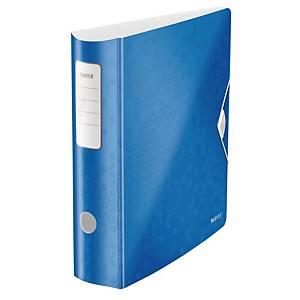 Ordner Leitz 1106 WOW, PP-kaschiert, A4, Rückenbreite: 82mm, blau metallic
