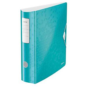 Leitz 1106 WOW Active lever arch file 180 degrees 80mm PP ice blue