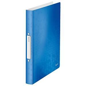 Classeur à 2 anneaux Leitz WOW A4 PP 25mm bleu