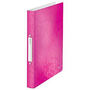 Leitz 4257 WOW 2-ring binder A4 PP 25mm pink
