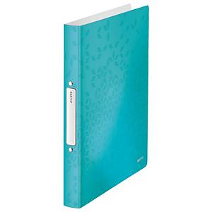 Leitz 4257 WOW 2-ring binder A4 PP 25mm ice blue