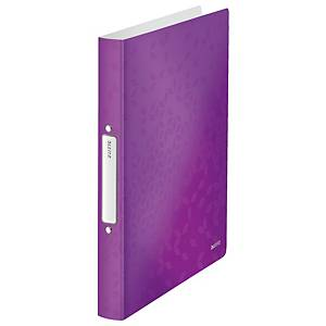Leitz 4257 WOW 2-ring binder A4 PP 25mm purple