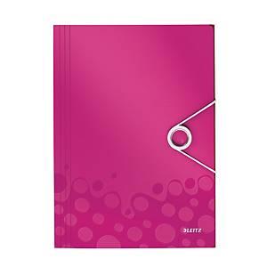 LEITZ 4599 WOW 3-FLAP FOLDER PINK