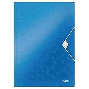 LEITZ 4599 WOW 3 FLAP FOLDER BLUE