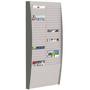 PAPERFLOW WALL DISPLAY RACK 50COMP GRY