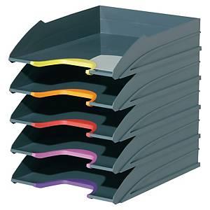 Durable Varicolor bunte Briefkörbe, Packung mit 5 Stück