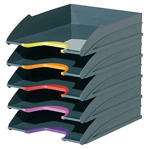 Corbeille à courrier Durable Varicolor - coloris assortis - lot de 5