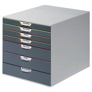 Durable Variocolor drawer unit 7 drawers assorted colours