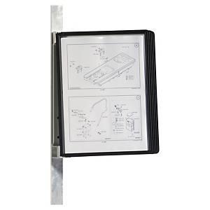 Veggstativ Durable Vario, A4, magnet, 5 lommer, sort