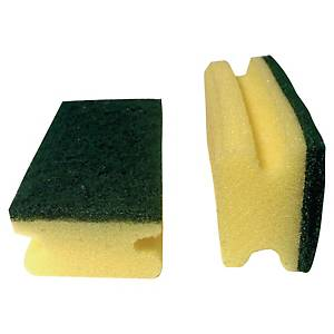 Reinigungsschwamm sensitiv Scotch-Brite, Packung à 10 Stück,  gelb/grün