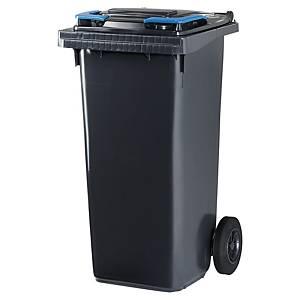 Affaldscontainer Cep Citec, 120 L, grå, blåt låg