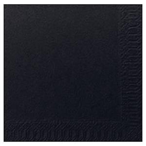 Serviettes en papier Duni, 2 épaisseurs, 24 x 24 cm, noires, 300 serviettes
