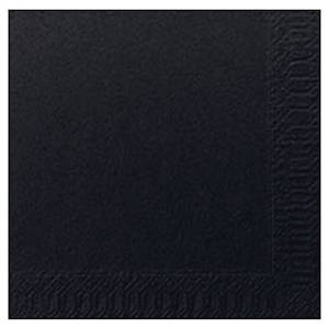 Pacote 300 guardanapos de papel Duni - Folha dupla - 240 x 240 mm - preto