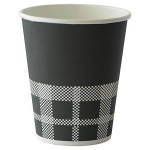 Pack de 40 vasos Duni Coffee Quick - cartón - 240ml - cuadros