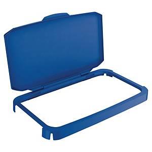 Couvercle à charnière pour conteneur à déchets Durabin, bleu