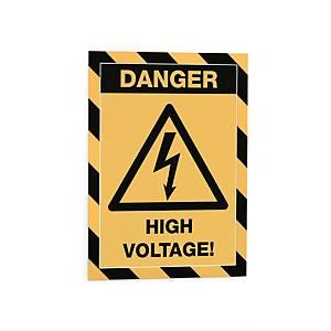 Inforahmen Durable 4945 Security, A4, magnetisch, schwarz/gelb, 5 Stück