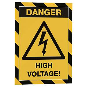 Durable Duraframe Magnetic magneettikehys A4 musta/keltainen, 1 kpl=5 kehystä