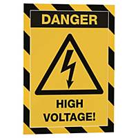 Magnetficka Durable Duraframe Magnetic Security, gul/svart, A4, förp. med 5 st.