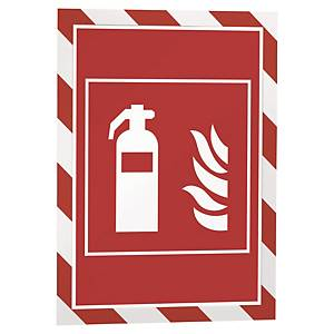 Wandzeigetasche Durable Duraframe, A4, magnetisch, rot/weiss
