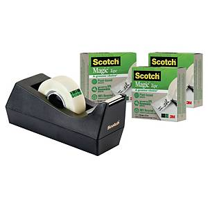 Stolní zásobník Scotch C38 + 3 ks neviditelné pásky Scotch Magic