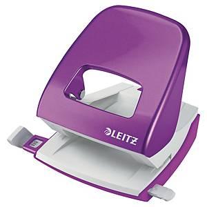 Leitz 5008 Wow 2-lyukú lyukasztó, metál lila, 30 lap
