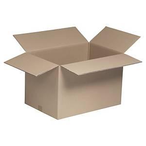 Kartonnen doos enkelgolfkarton, testliner, B 400 x H 400 x L 600 mm, 20 dozen