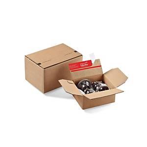 Versandschachtel Colompac, 159x129x70mm, braun, Packung à 10 Stück