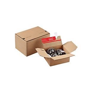 Boîte ColomPac® à hauteur fixe, brune, 129 x 70 x 159 mm, les 10 boîtes