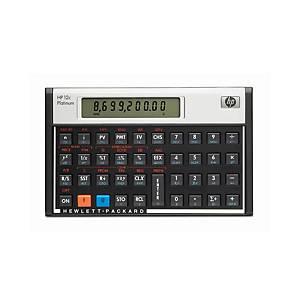 Calculatrice de poche HP 12C Plantinum, calculatrice finan., vers. fr./angl.