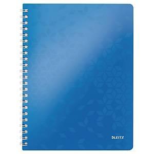 Notesbog Leitz WOW, A4, linjeret, blå