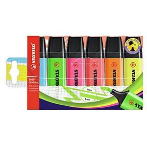 Stabilo Boss Highlighters Asst - Pack Of 6